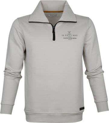 No-Excess Half Zip Trui Beige