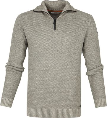 No-Excess Half Zip Trui Grijs