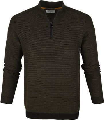No-Excess Half Zip Trui Moss