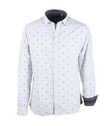 No-Excess Hemd Blau Gestreift