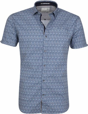 No-Excess Hemd Blau Print