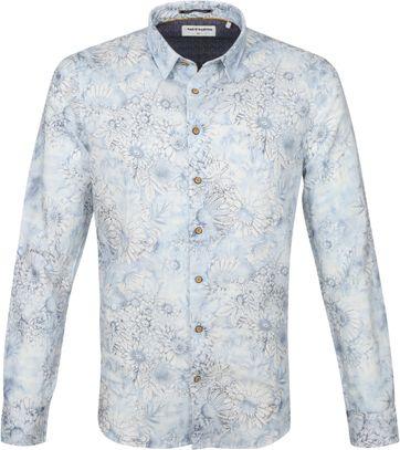 No-Excess Hemd Blumen Blau