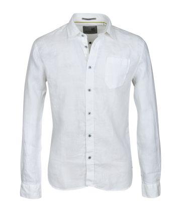 No-Excess Hemd Leinen Weiß