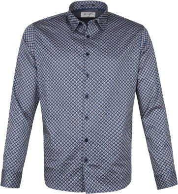No-Excess Hemd Muster Blau