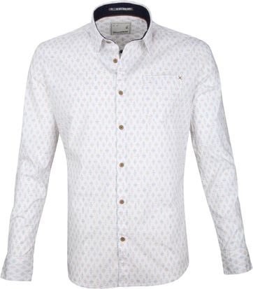No-Excess Hemd Print Weiß