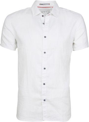 No-Excess Hemd SS Leinen Weiß