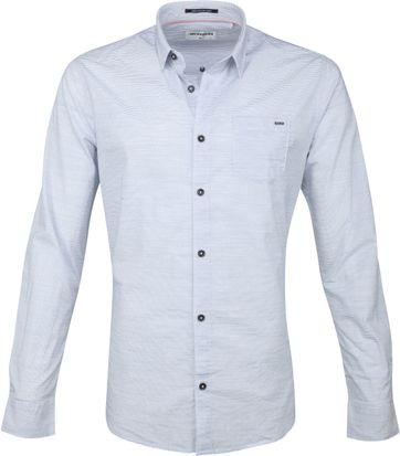 No-Excess Hemd Streifen Blau