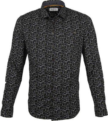 No-Excess Hemd Trendy Zeilen Schwarz