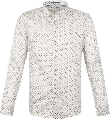 No-Excess Hemd Vintage Insekten Weiß