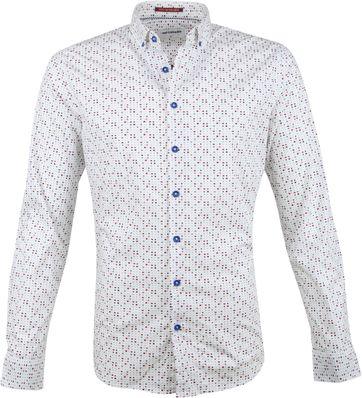 No-Excess Hemd Weiß Blau