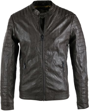 No-Excess Jacket Imitation Leather Brown