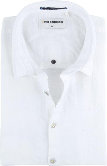 No-Excess Leinen Hemd Uni Weiß