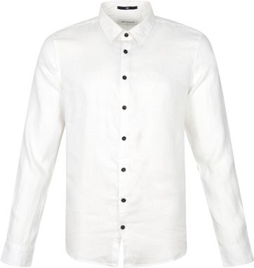 No-Excess Linen Shirt 11410234 White