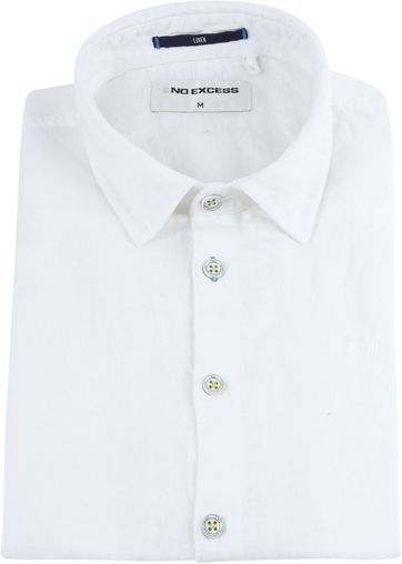 No-Excess Linen Shirt Uni White