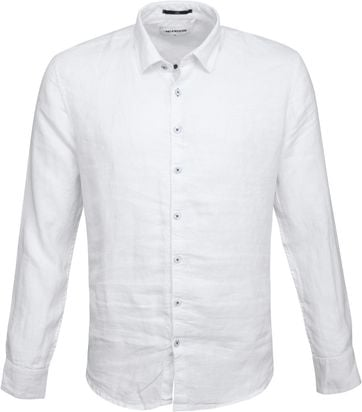 No-Excess Linen Shirt White