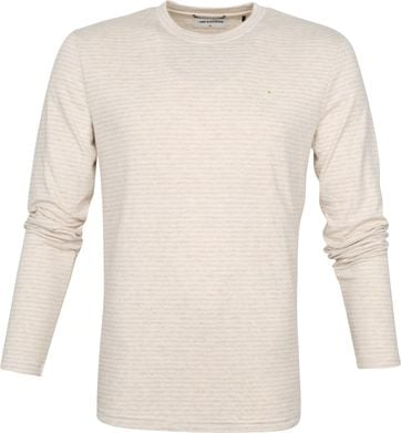 No-Excess Longsleeve T Shirt Beige