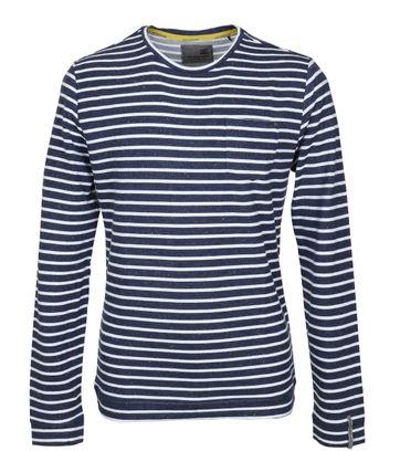 No-Excess Longsleeve T-shirt Blue Stripes