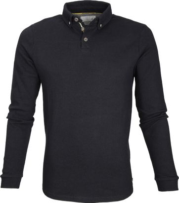 No Excess Longsleve Polo Zwart