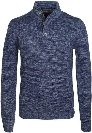 No-Excess Mocker Pullover Blau