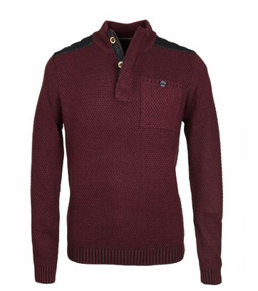 No-Excess Mocker Pullover Bordeaux