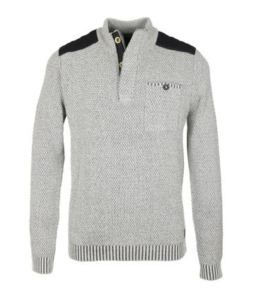 No-Excess Mocker Pullover Grau