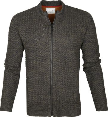 No-Excess Motorcollar Cardigan Army