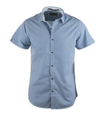 No-Excess Overhemd Blauw Print