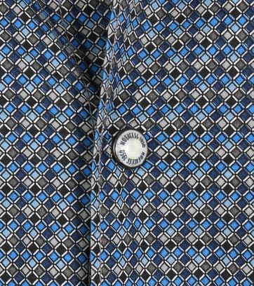 Detail No-Excess Overhemd Blauw Print Allover
