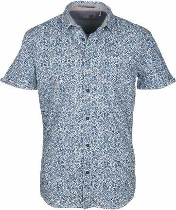 No-Excess Overhemd Blauw Stippen