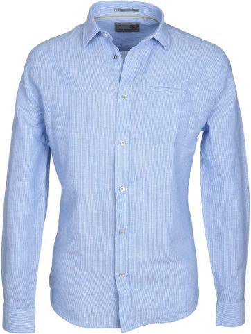 No-Excess Overhemd Blauw Streep