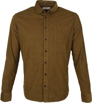 No-Excess Overhemd Corduroy Bruin