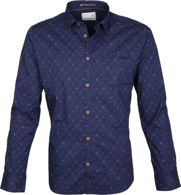 No-Excess Overhemd Dessin Navy