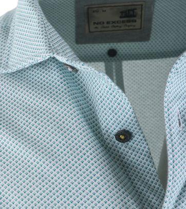 Detail No-Excess Overhemd Groen Print