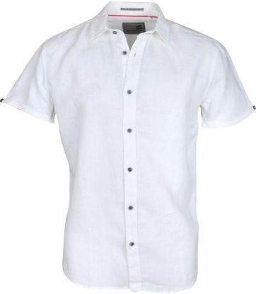 No-Excess Overhemd Linnen Korte Mouw Wit