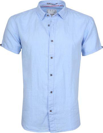 No-Excess Overhemd Linnen SS Blauw