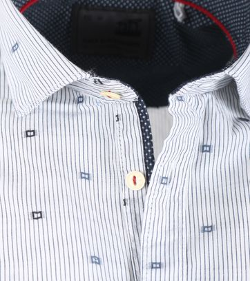 Detail No-Excess Overhemd Streep Blauw