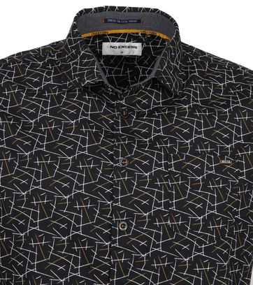 No-Excess Overhemd Trendy Strepen Zwart
