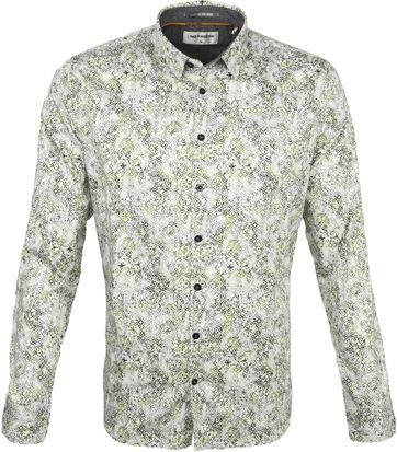 No-Excess Overhemd Vlokken Dessin Groen