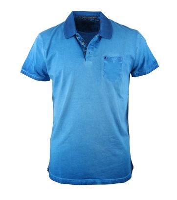 No-Excess Polo Blue Washed