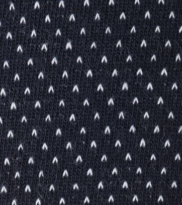 Detail No-Excess Polo Donkerblauw Pinpoint