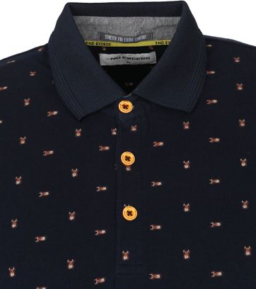 No-Excess Polo Insecten Donkerblauw