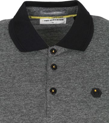 No-Excess Polo Melange Donkergrijs
