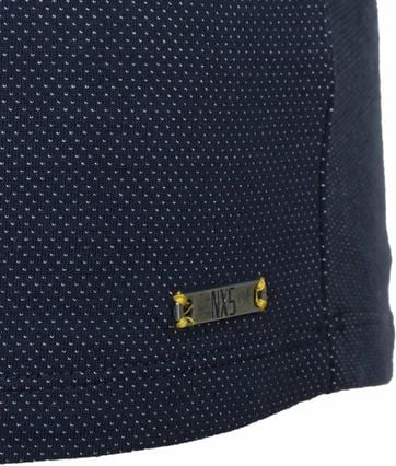 Detail No-Excess Polo Pinpoint Dunkelblau