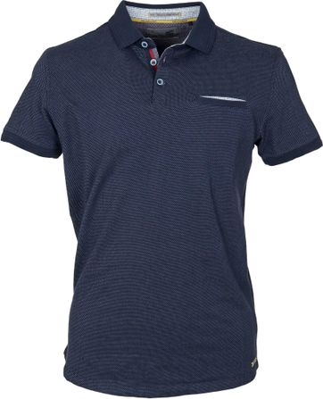 Detail No-Excess Polo Pinpoint Navy