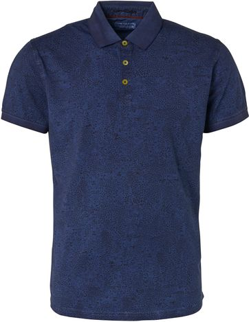 No-Excess Polo Print Donkerblauw