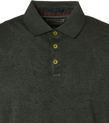 No-Excess Polo Print Donkergroen