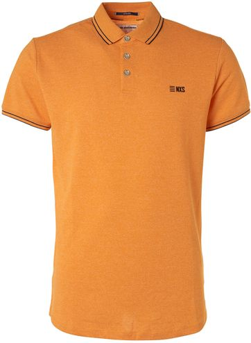 No-Excess Polo Shirt Garment Dye Yellow