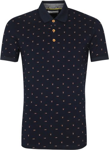 No-Excess Polo Shirt Insects Navy