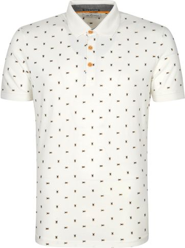 No-Excess Polo Shirt Insects Offwhite