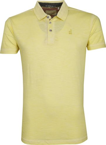 No Excess Polo Shirt Melange Yellow